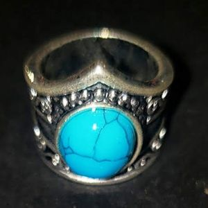 Vintage Sterling Silver /Natural Turqouise Ring.